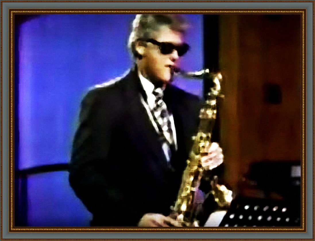 Bill Clinton on Sax